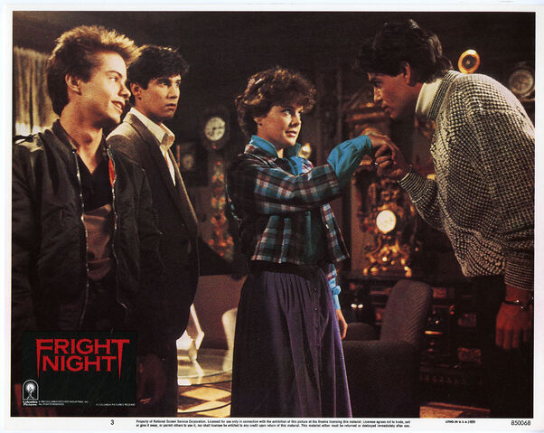 File:Fright Night Lobby Card 03 Stephen Geoffreys William Ragsdale Amanda Bearse Chris Sarandon.jpg
