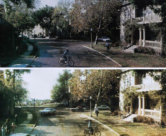 File:Fright Night 1985 Backlot Matte Painting comparison.jpg