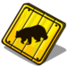 Bear Crossing-icon