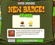 Super Spender Badge Earned