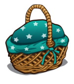 Picnic Basket blue with stars