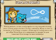 Water Donation Event Popup