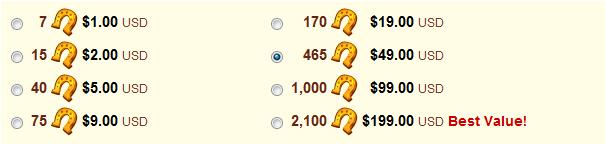 Horseshoe Cost