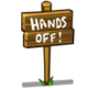 Hands Off Sign-icon