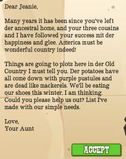 Aunt Letter 1