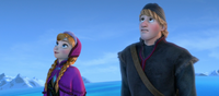 Anna and Kristoff find the ice palace