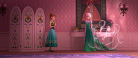 Elsa spruces up the dresses