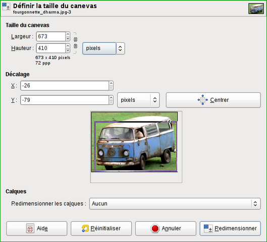 Fichier:Gimp rogner redimensionner.png