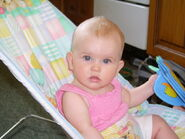 Sitting-in-bouncer-chair-5-five-month-stella-in-pink-summer-top-2-JR