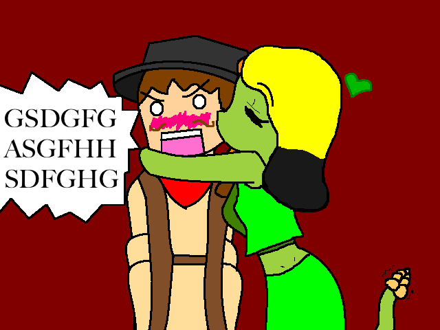 File:Six shooter and snake girl by penguinqueen423.png
