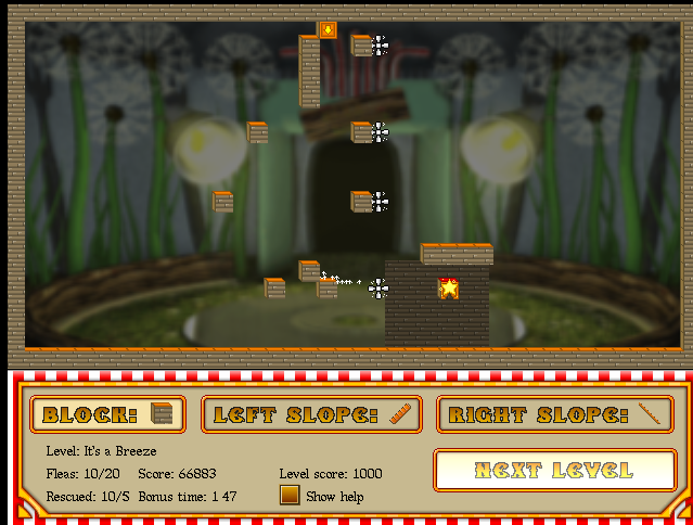 Flea circus it's a breeze completed screenie