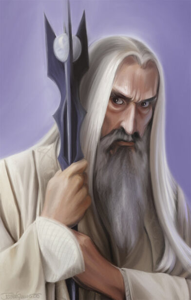 Old Saruman the White by Luftwaffles