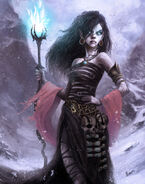 640x814 9879 Goth Witch 2d fantasy magic women girl witch mage portrait picture image digital art