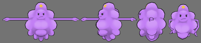 Lumpy space princess model by fusionfallcreations-d583lm6