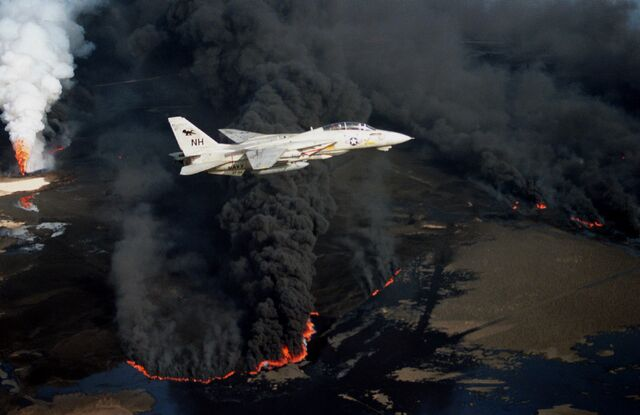File:F-14A VF-114 over burning Kuwaiti oil well 1991.JPEG