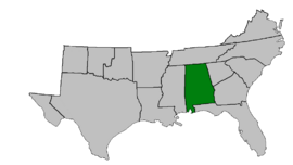 CSA Map Alabama Highlighted