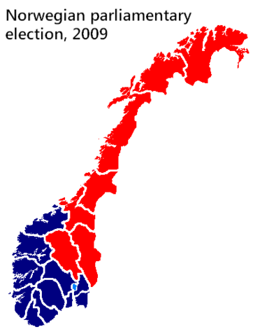 File:Stortingsvalg 2009 results by county.png