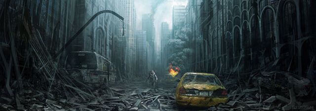 File:1800x632 3297 The war later City 2d post apocalyptic environment city ruins picture image digital art.jpg