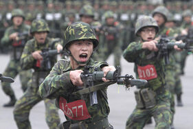 Chinese Nationalists being trained