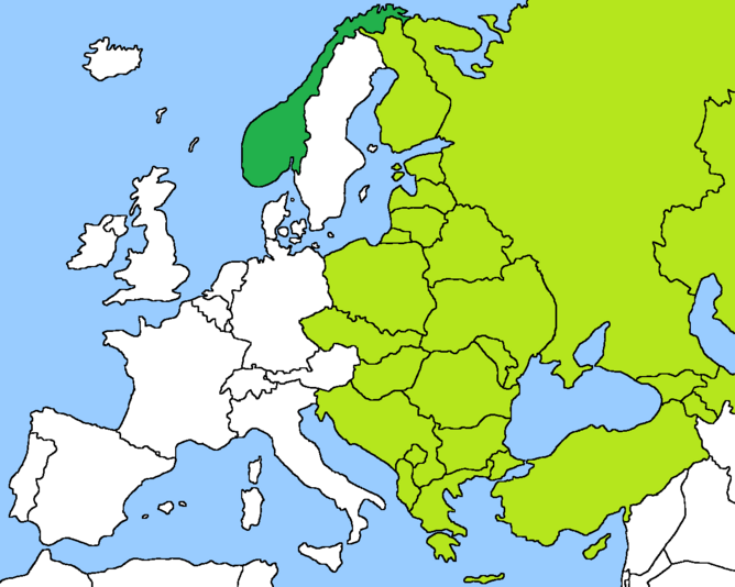 Norwegian SSR map