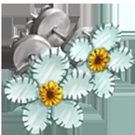 White Water Snowflake Earrings