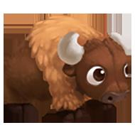 Stuffed Buffalo Toy