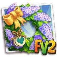 Heirloom Purple Lilac Wreath