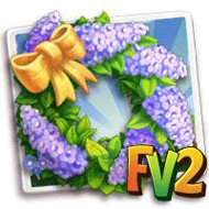 Purple Lilac Wreath