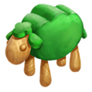 Green Sheep Toy
