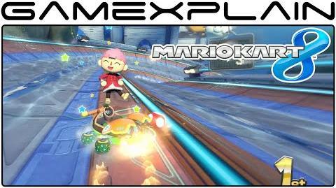Mario Kart 8 DLC Big Blue Gameplay (60fps - Full Race)