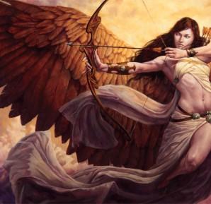 Artemis Diana Greek Goddess Art 01 by michael c hayes-e1447585310222-298x289