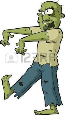 Zombie on a white background illustration