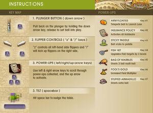 Gaia Pinball instructions