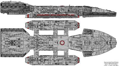 Columbia Class Battlestar - TOS