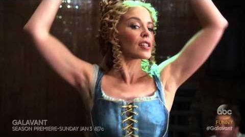 "Watch Kylie Minogue in Galavant ""Off With His Shirt"""