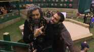 Galavant BTS Timothy Omundson and Joshua Sasse