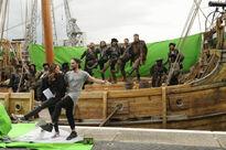 Galavant A New Season BTS Martin Collins Timothy Omundson Hugh Bonneville Joshua Sasse Daniel Hoffman-Gill
