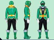 Green Super Megaforce Ranger Form