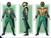 Green Samurai Ranger Form