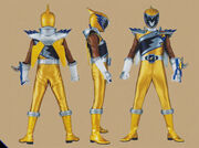 Gold Dino Charge Ranger Form