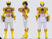 Yellow Megaforce Ranger Ultra Mode