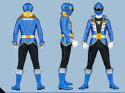 Blue Super Megaforce Ranger Form