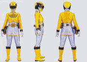 Yellow Megaforce Ranger Form