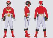 Red Megaforce Ranger Form