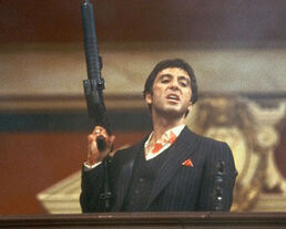 Tony Montana with a Cannon