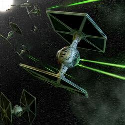 TIE Starfighters in Action