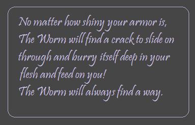 Worm motto
