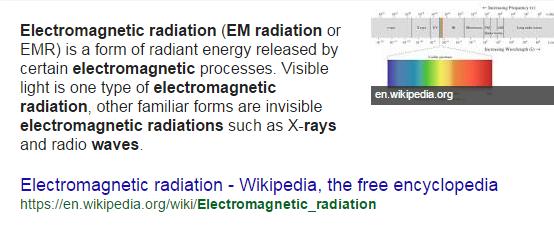 Electromagnetic radiation | Galnet Wiki | Fandom powered by Wikia