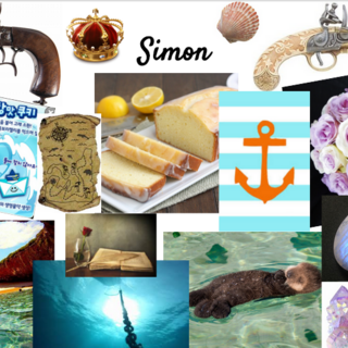 Simon's aesthetic collage.