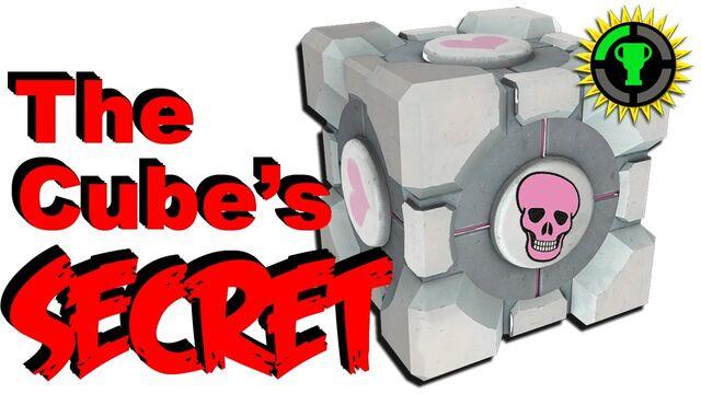 File:Portal's Companion Cube has a Dark Secret.jpg